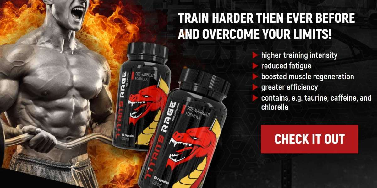 Titans Rage Pre-Workout Supplement UK | Boosted Muscle Regeneration | Higher Training Intensity